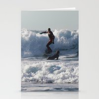 Winter Surfing Stationery Cards