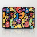 Monster Faces Pattern iPad Case