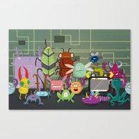 Computer Bugs Canvas Print