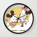 Disney Dads: Mickey + Minnie Wall Clock