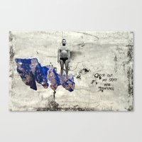 Sexy Man Mountain Canvas Print