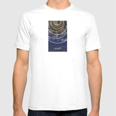 Moon Phases White Mens Fitted Tee SMALL