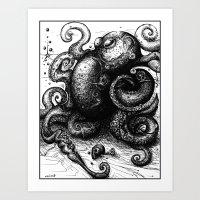 Octopus #8 Art Print