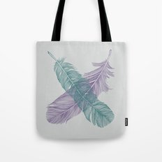 X Feathers Tote Bag