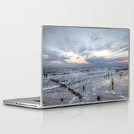 Cold Sundown At The Beac… Laptop & iPad Skin