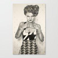 Pattern Girl Canvas Print