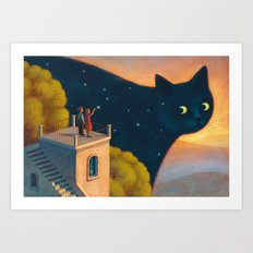 Eyes of the night Art Print