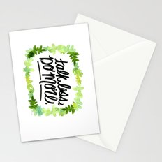 Talk Less, Do More. Stationery Cards