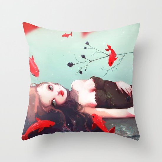 L'attente Throw Pillow