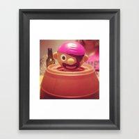 Pop-up Pirate Framed Art Print