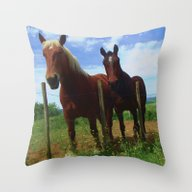 Horses In France #3 Throw Pillow
