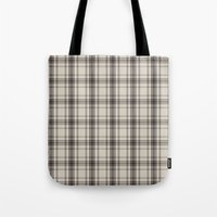 Plaid In Taupe Tote Bag