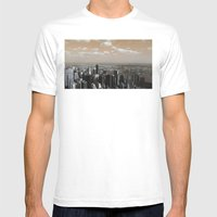 between two worlds Mens Fitted Tee White SMALL