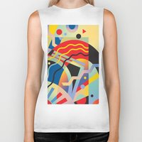 Graphic Abstraction 3 Biker Tank