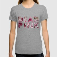 Dead Pink Womens Fitted Tee Tri-Grey SMALL
