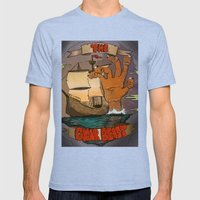 The Gnar Beast Mens Fitted Tee Tri-Blue SMALL