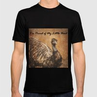 I'm Proud of My Little Head Mens Fitted Tee Black SMALL