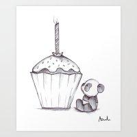 Panda Cake, Panda Cake Art Print