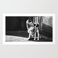 Abby and Gypsy Art Print