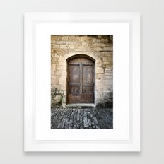 Histoire de portes VI Framed Art Print