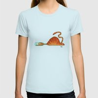 Bottle Womens Fitted Tee Light Blue SMALL