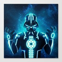 Tron Vader Blue Canvas Print