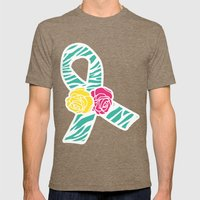 Endometriosis Ribbon 3 Mens Fitted Tee Tri-Coffee SMALL