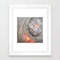 Flaming Seashell 3 Framed Art Print