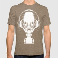 Tune In Mens Fitted Tee Tri-Coffee SMALL