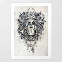lion Art Prints featuring Lion by Feline Zegers