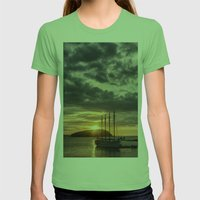 Sunrise Bar Harbor Maine Womens Fitted Tee Grass SMALL
