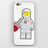 Vintage Lego White Spaceman Minifig iPhone & iPod Skin