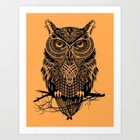 Warrior Owl 2 Art Print