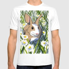 Rabbit Mens Fitted Tee SMALL White
