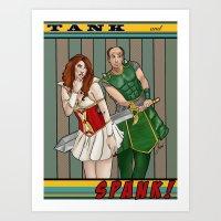 Tank And Spank Art Print