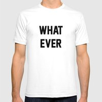 Whatever Mens Fitted Tee White SMALL