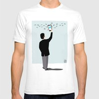 Serial Twitter Mens Fitted Tee White SMALL