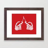 Wishbones Framed Art Print