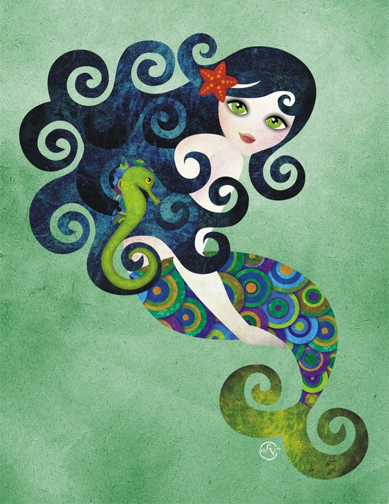 Aquamarine Mermaid Art Print