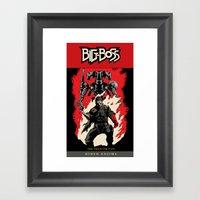 Hellboss Comic Cover Framed Art Print