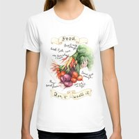 Food Poster Womens Fitted Tee White SMALL