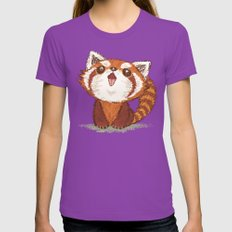 Red panda Womens Fitted Tee Ultraviolet SMALL