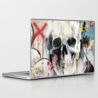skull Laptop & iPad Skins featuring Skull by FAMOUS WHEN DEAD