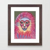 Monkey King Face  Framed Art Print