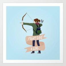 Fight Like a Girl: Ellie Art Print