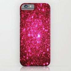 Hot Pink Glitter Stars iPhone 6 Slim Case