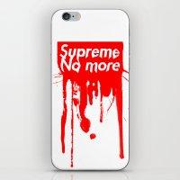 Supreme No More iPhone & iPod Skin