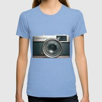 Vintage Womens Fitted Tee Tri-Blue SMALL