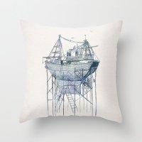 Dry Dock II Throw Pillow