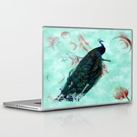 peacock Laptop & iPad Skins featuring Peacock by SuzanneCarter